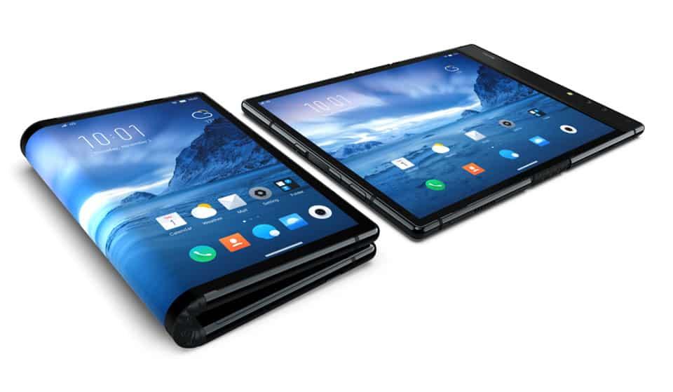 Verdens første smartphone med foldbar skærm
