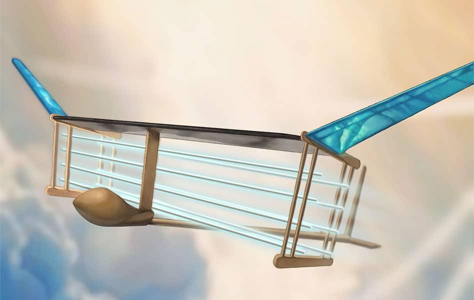 Det første fly med ion-motor