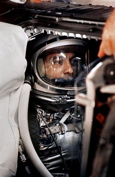 Apollo programmet - Alan Shepard ombord på Freedom 7 før launch. teknologikritik.dk