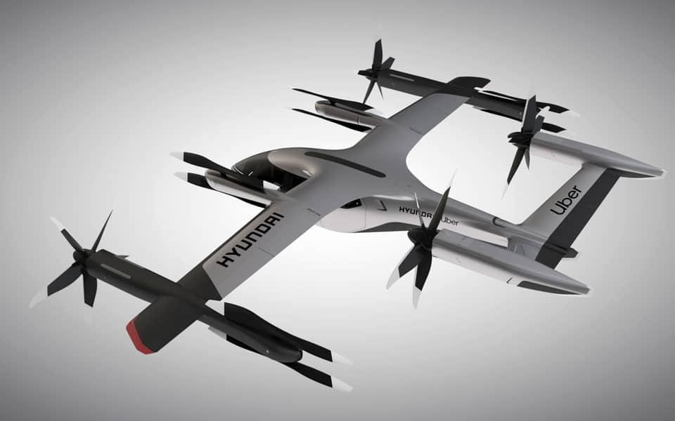 Huyndai og Uber lancerer flyvende el-taxi