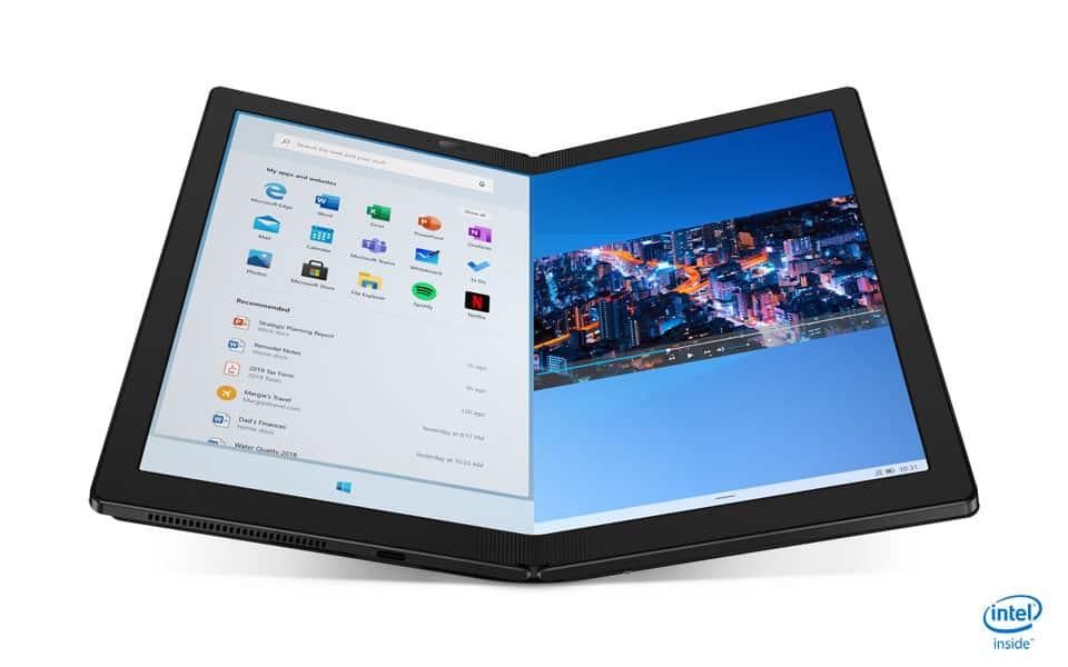 Verdens første PC med foldbar skærm