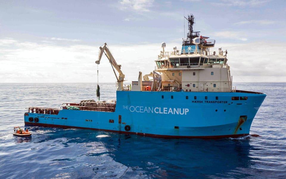 Mærsk hjælper Ocean Cleanup